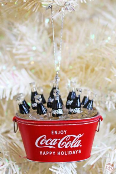 Coca-Cola Bucket Christmas Ornament