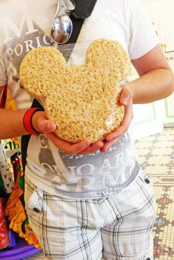 Giant Mickey Mouse Rice Krispie Treat