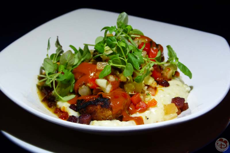 Barbecue-Grilled Shrimp and Grits - Narcoossee's at Grand Floridian