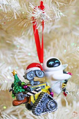 WALL-E & EVE Disney Christmas Ornament