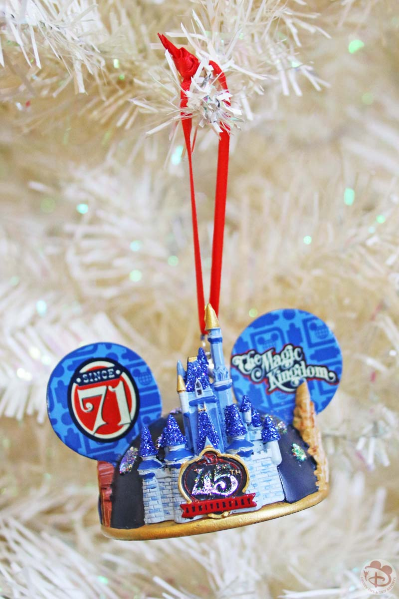 Walt Disney World 45th Anniversary Christmas Ornament
