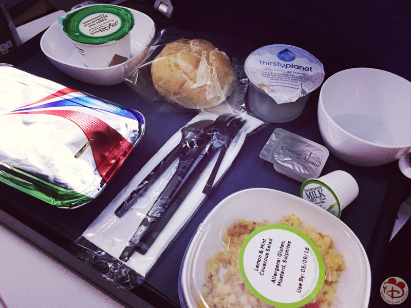 British Airways Food Service - Lunch