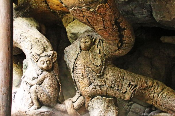 Tree of Life at Animal Kingdom - monkey carving