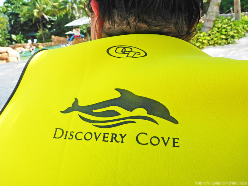Wetsuit jacket at Discovery Cove