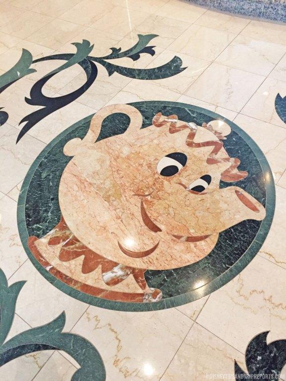 Mrs. Potts Floor Mosaic - Grand Floridian