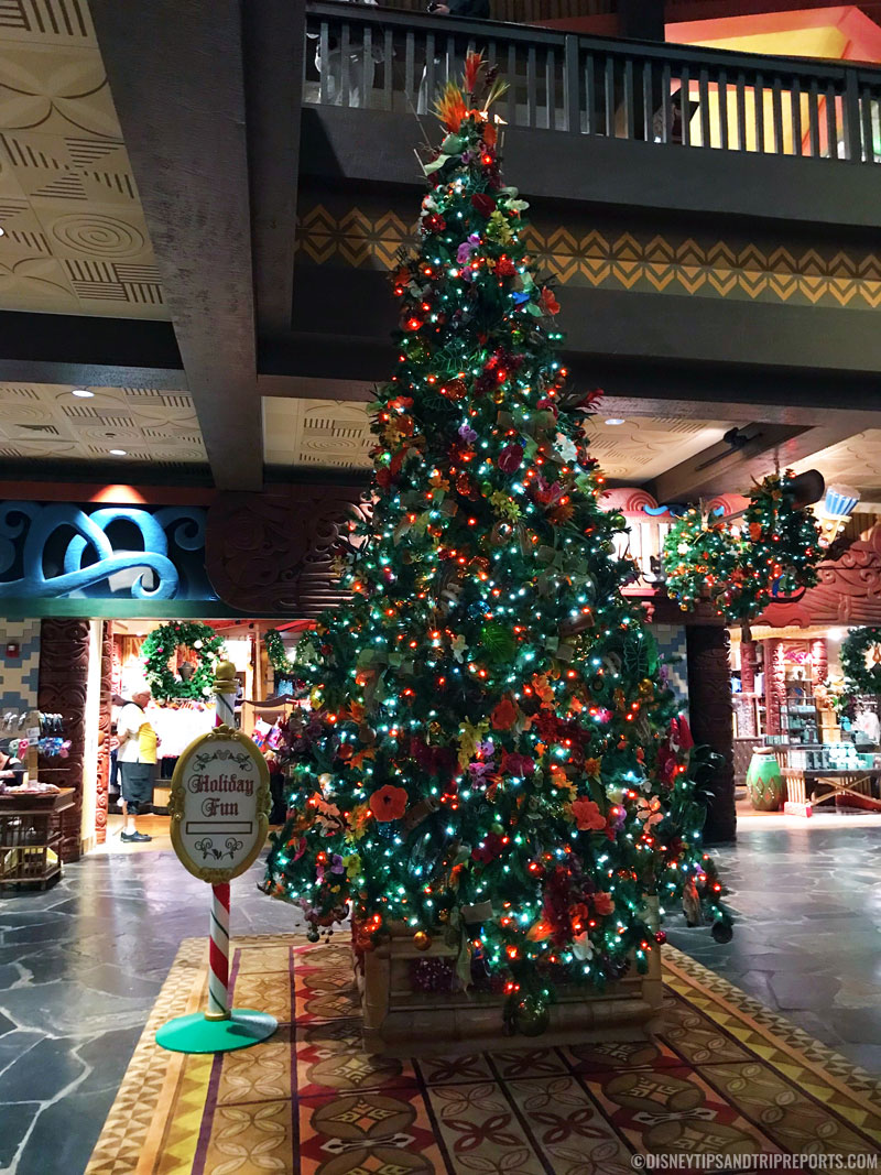 Disney's Polynesian Village Resort at Christmas