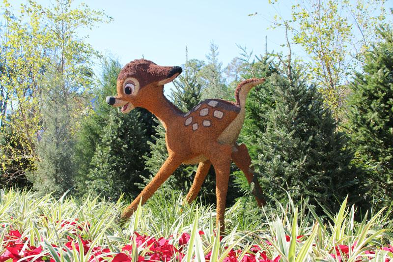 Bambi - Epcot Epcot Christmas Topiaries