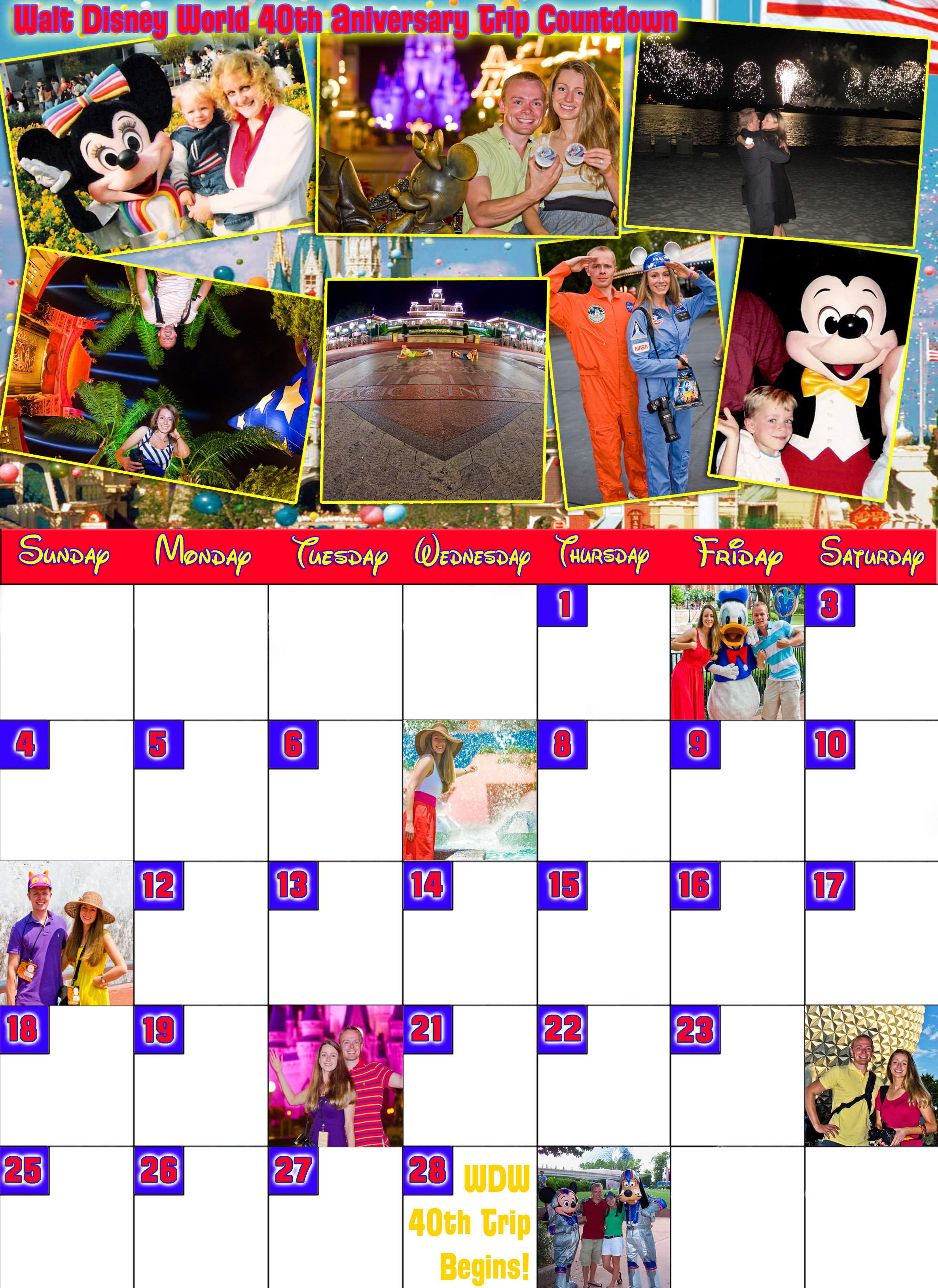 photo relating to Vacation Countdown Calendar Printable named Disney Countdown Calendars - Disney Vacationer Website