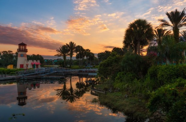 caribbean-beach-sunrise-lighthouse-disney-world