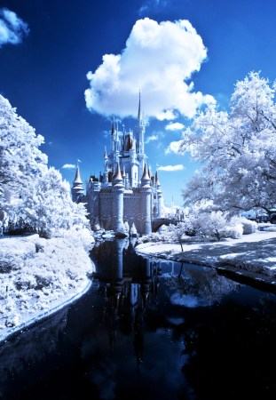 Cinderella Castle Infrared - Walt Disney World