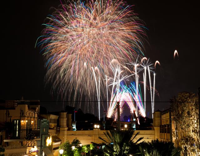 Carthay Circle Fireworks