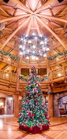 villas wilderness lodge lobby christmas disney world