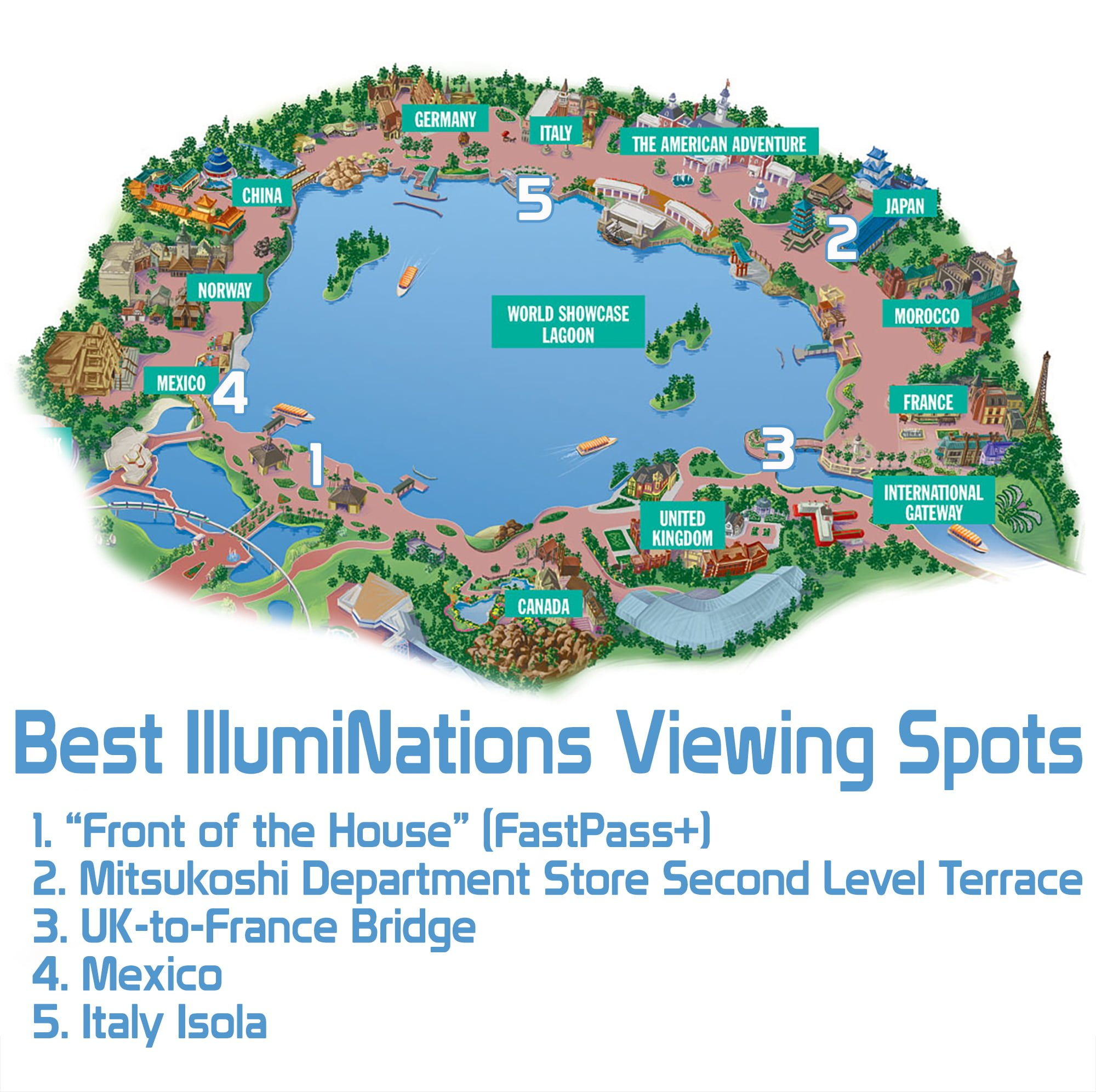 Best illuminations viewing spots disney tourist blog epcot fireworks map copy gumiabroncs Choice Image