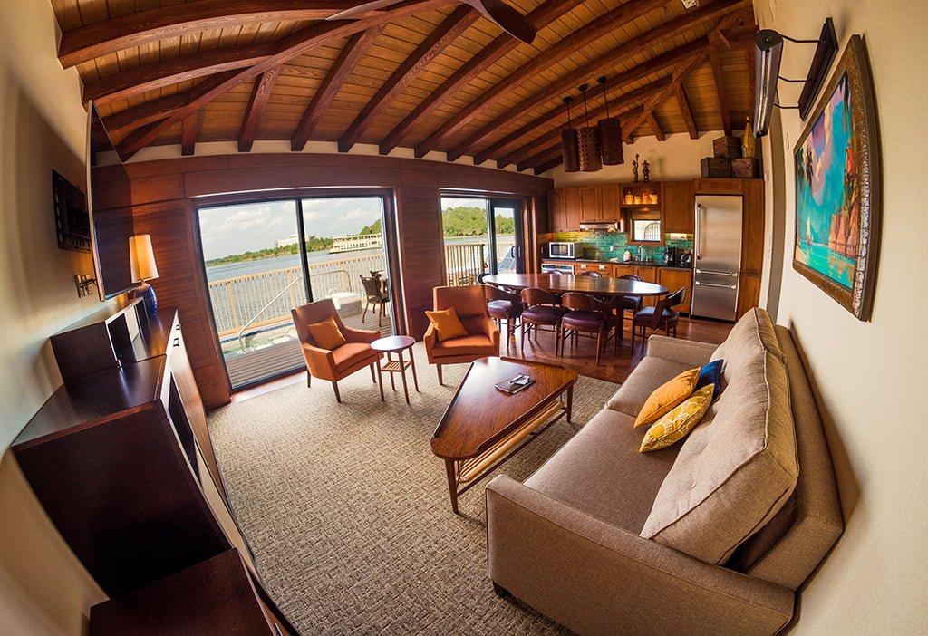 Polynesian Bungalow Living Area Fisheye Disney World
