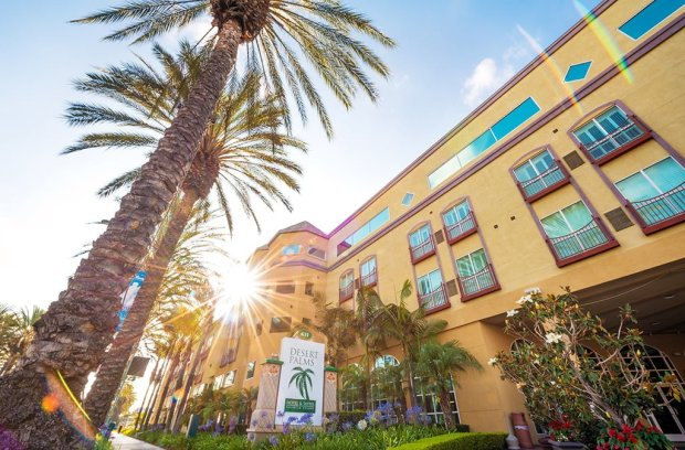 desert-palms-front-hotel-sun