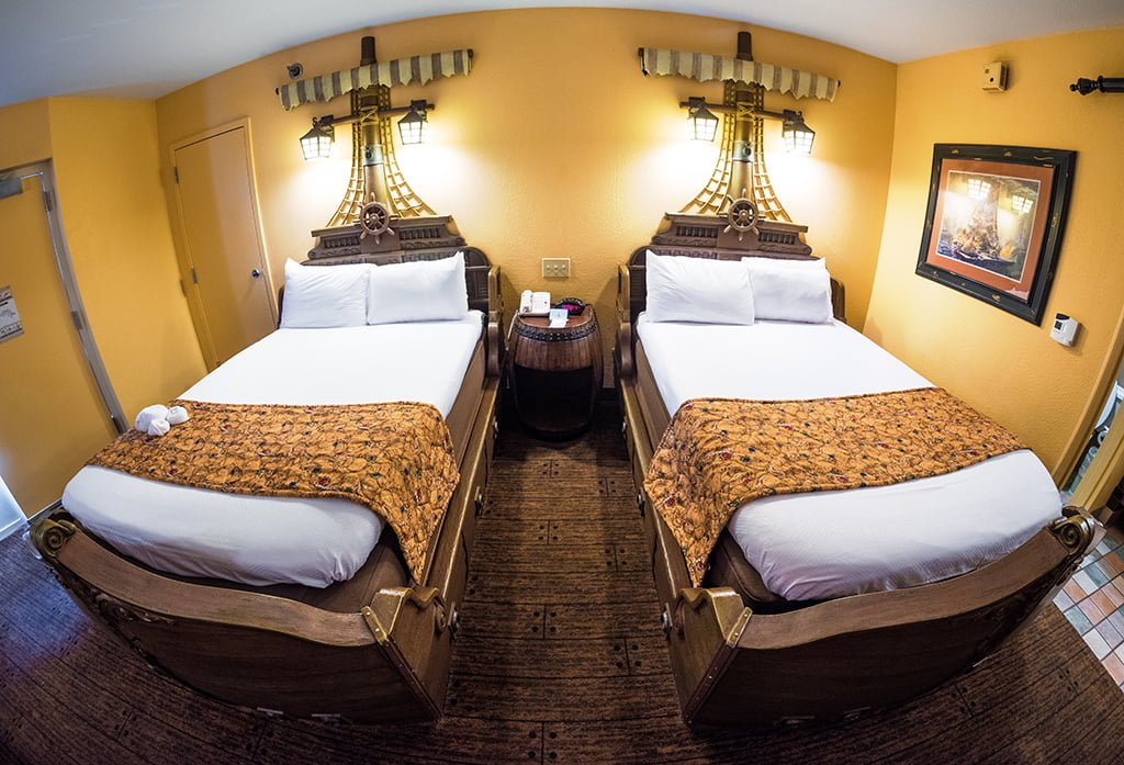 cc2acf60b115a9 Pirate Rooms at Caribbean Beach Resort Review - Disney Tourist Blog