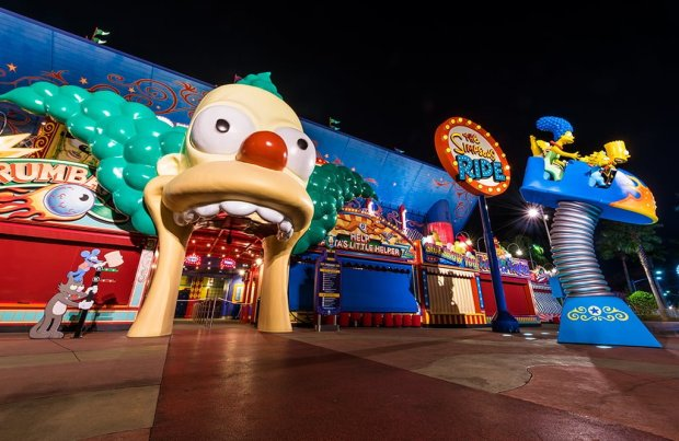 simpsons-ride-universal-studios-florida-night