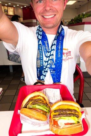 disneyland-half-marathon-10th-anniversary-rundisney-tom-bricker-selfie-in-n-out