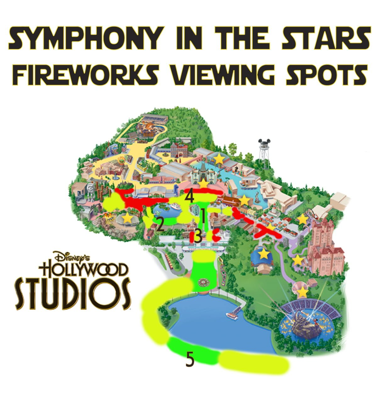 Best Disney\'s Hollywood Studios Fireworks Spots - Disney Tourist Blog