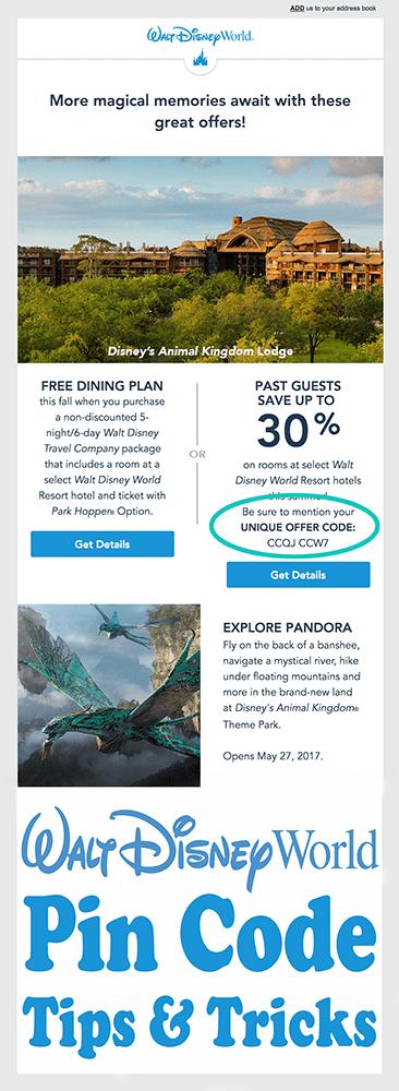 How to Get a Disney World PIN Code - Disney Tourist Blog