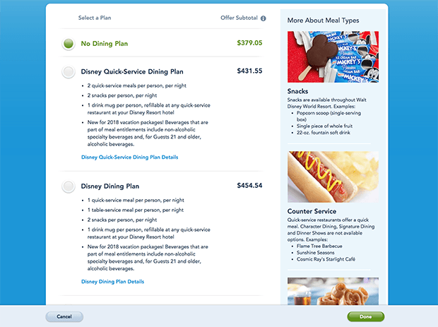 Prices Of Food In Walt Disney World