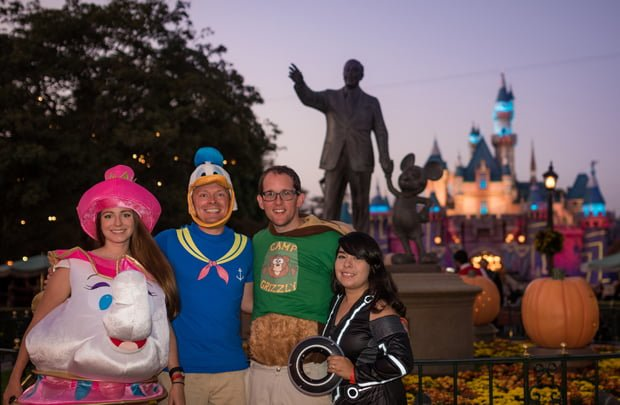 one of the big plusses of mickeys halloween party at disneyland for many guests is the opportunity to dress in costume there are limits to the costumes