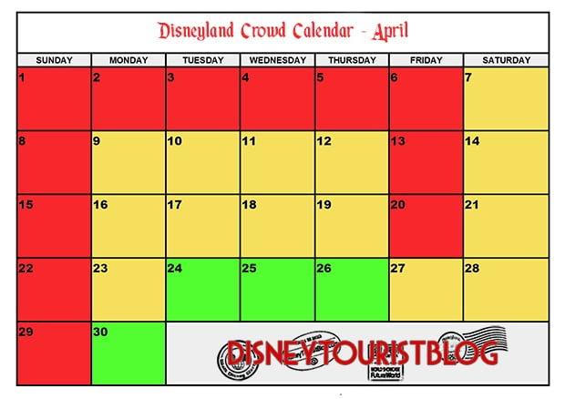 Disneyland December 2019 Calendar 2019 Disneyland Crowd Calendar: When To Visit   Disney Tourist Blog