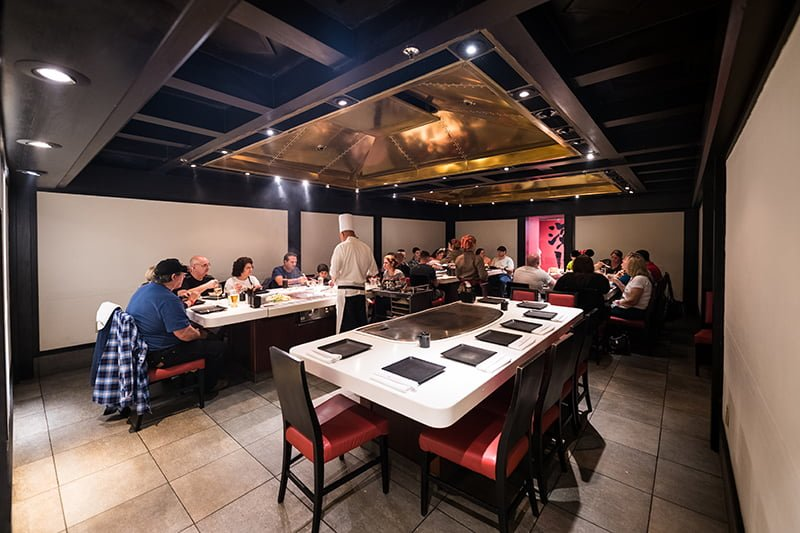 Teppan Edo Review Disney Tourist Blog - Teppan table