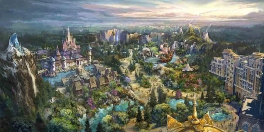 [Parc Walt Disney Studios] Nouvelle zone La Reine des Neiges  (202?) - Page 8 Aerial-tokyo-disneysea-expansion