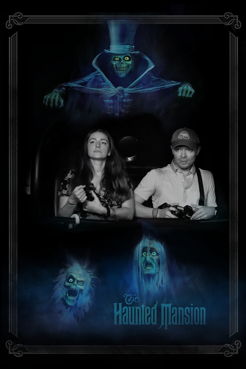 """Disney Haunted Mansion stretching room 8.5/"""" x 11/"""" Poster Part 1 /& 2"""
