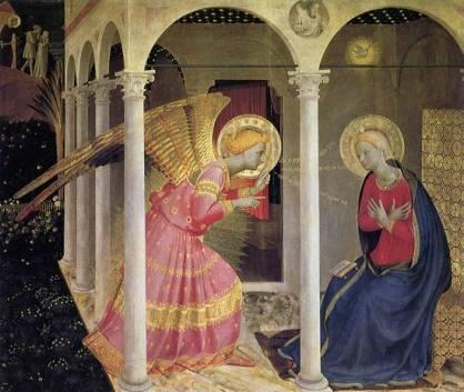 Fra Filippo Lippi, retable de l'Annonciation, eglise San Lorenzo, Florence