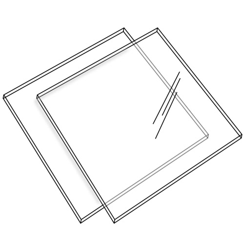 Acrylic Perspex Ganaching Square Plates Set of 2 (DS44)