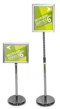 Advocate Pedestal Sign Stand | Floor Standing Sign Holders ...