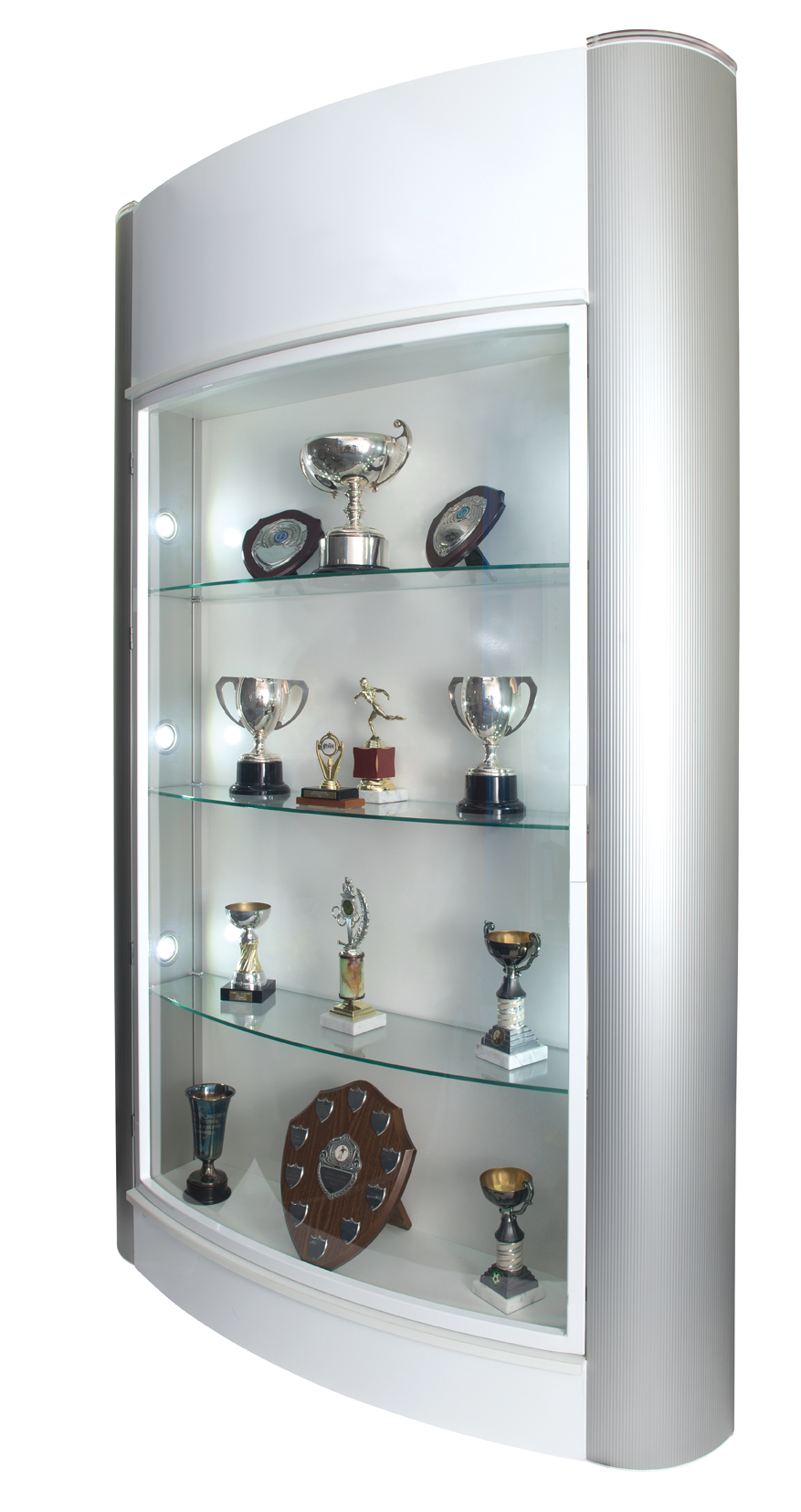 Trophy Showcase Display Cabinet Floor Standing LED Lights