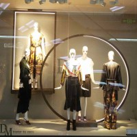 Large Wrought Iron Wall Art with Creative Store Window Ideas