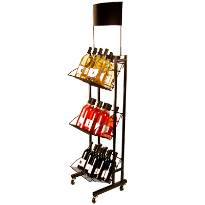 Caster Retail Wine Display StandDisplay StandCaster Rack