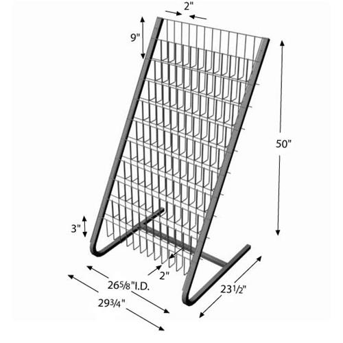 10-Shelf Floor Magazine Rack,Floor Magazine Rack,Metal