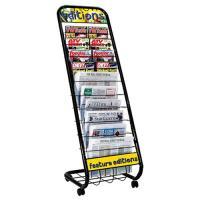 10-Shelf Floor Magazine Rack,Floor Magazine Rack,Metal ...