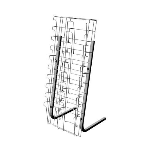 20-Pocket Wire Magazine Rack,Wire Magazine Rack,Floor
