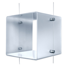 Cable system clear frosted cube