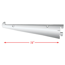 "Tap-in 14"" shelf bracket for 1/2"" standard"
