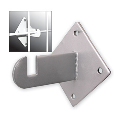 Chrome gridwall mount bracket