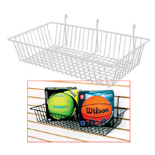 Wire basket white finish
