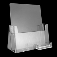Clear Full Size Sheet Brochure Holder with Business Card ...