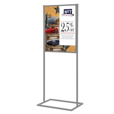 metal poster stands displays