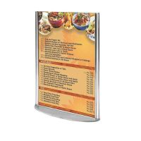 """4""""w x 6""""h Oval Based Clear Acrylic Leaflet & Sign Holder"""