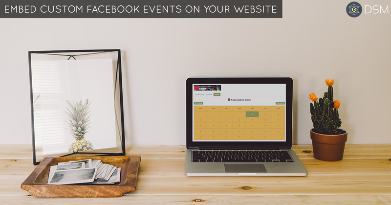 display, show or embed Facebook page events on website