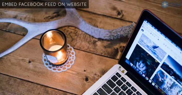 display, show or embed facebook feed on website