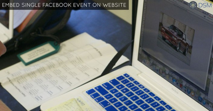 how to embed single Facebook event on website