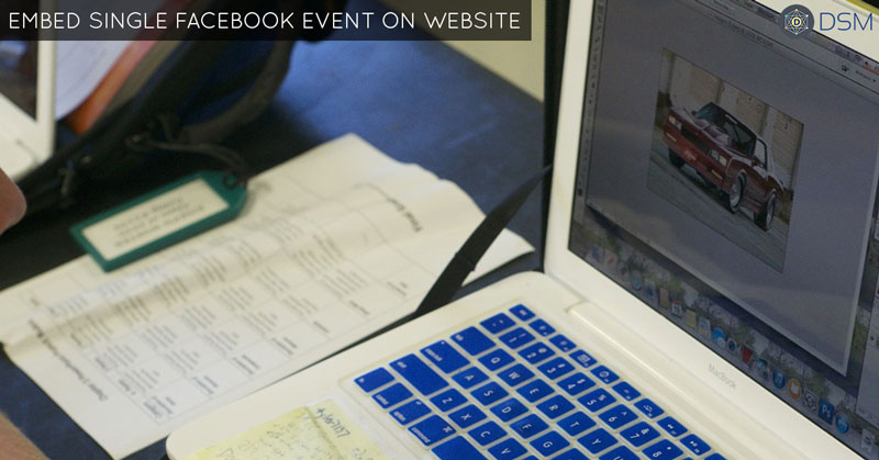 how to embed Facebook page event on website
